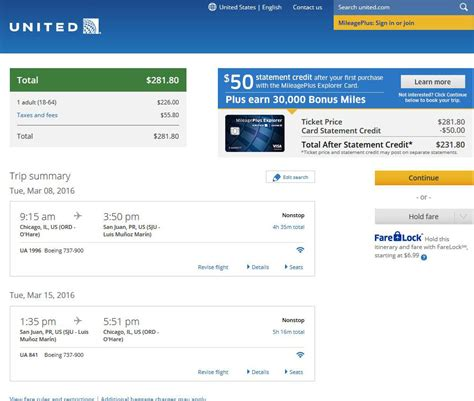 united airlines booking 282 294 chicago to puerto rico nonstop into oct r