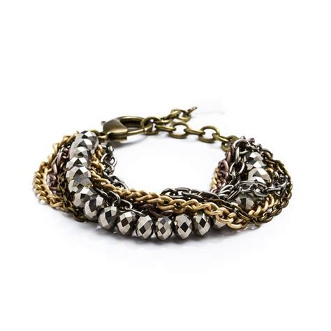 braided metal ring gold silver copper mixed metal ring braided chain crystalline bracelet grayling grayling