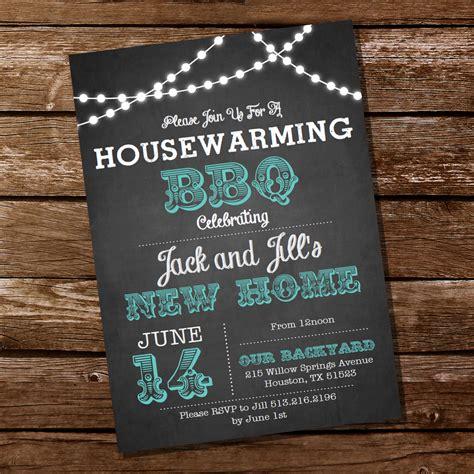 housewarming invitation design chalkboard housewarming bbq invitation housewarming party