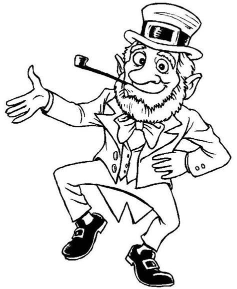 leprechaun coloring page 1000 images about ireland on s
