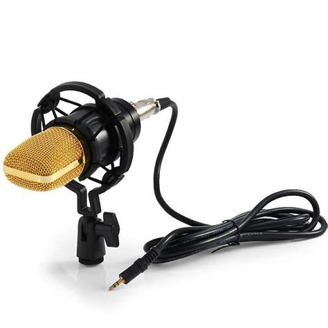 Microphone Huper Pro 1 Original pro condenser microphone kit bm700 with shock mount sound reverb