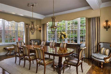 dining room light fixtures traditional cornice board bedroom transitional with bay windows