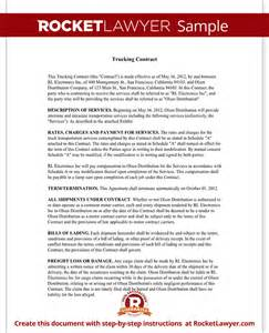 trucking contract template independent contractor