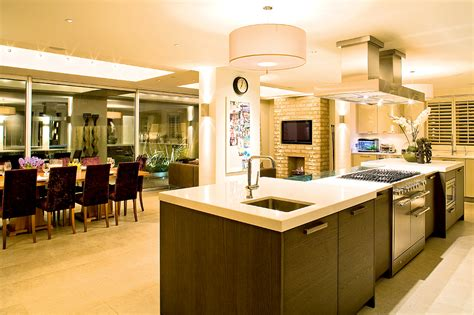 modern kitchen dining open plan with pillars and breakfast open plan faqs real homes