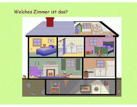 rooms in the house german rooms in a house