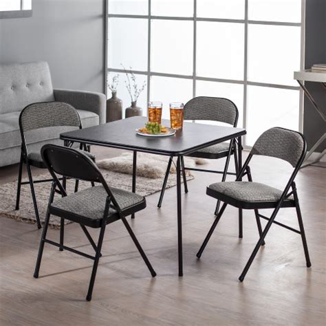 card table with 4 padded chairs card table set 5 pc folding padded chairs