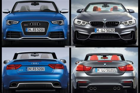 audi model comparison 2015 bmw m4 convertible vs audi rs5 cabrio photo comparison