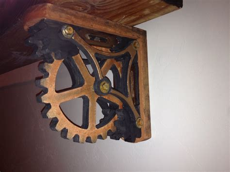 The Shelf Gears by Gear Shelf Bracket Or Corbel Www Conceptwoodworks Corbels Shelf Brackets