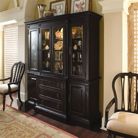 black china cabinet with glass doors sturlyn china cabinet with wood framed glass doors by