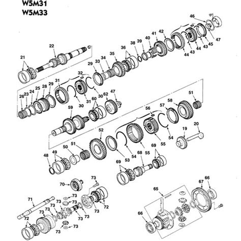 free download parts manuals 1999 mitsubishi gto transmission control mitsubishi w5m31 and w5m33 fwd 5sp manual transmission free parts illustration expo laser