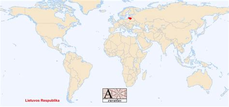 lithuania location on world map world atlas the sovereign states of the world lithuania