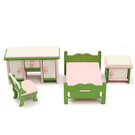 wooden dolls house family wooden furniture room set dolls house family miniature for