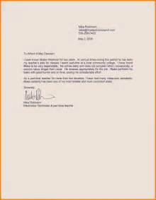 Recommendation Letter Of 4 Recommendation Letter Science Resume
