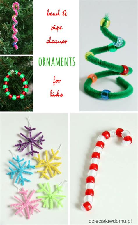 pipe cleaner bead ornaments bead and pipe cleaner ornaments for