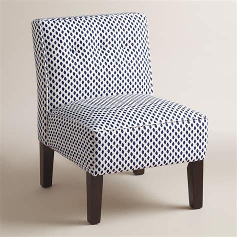blue print randen upholstered chair  wood legs world market