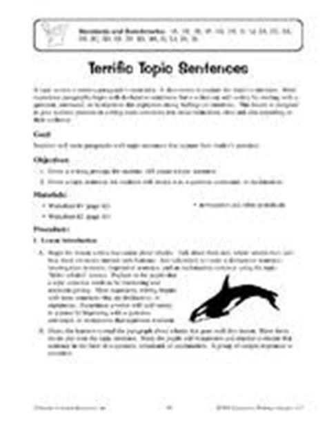Topic Sentence Worksheet High School by 17 Best Images About Topic Sentences On Common