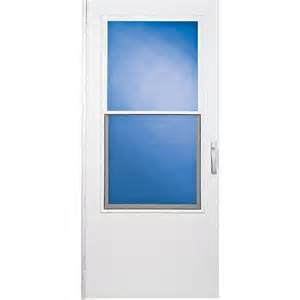 comfort bilt west point white mid view tempered glass