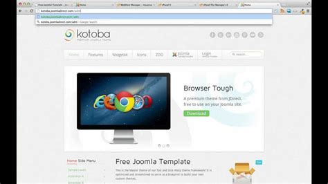 joomla template quickstart package installing our kotoba joomla template quickstart package