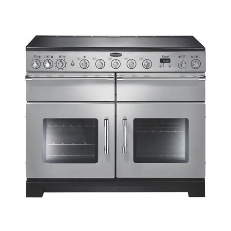 electric induction range cookers excel 110 induction electric range cooker exl110eisi c silver