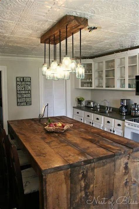Rustic Kitchen Lighting Ideas Diy Rustic Kitchen Island Overhead Lighting Yes Home Decor Ideas Pinterest