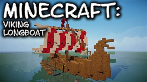 how to make a viking boat in minecraft minecraft viking longboat tutorial youtube