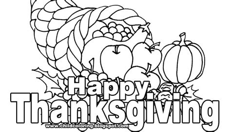 coloring page happy thanksgiving thanksgivin day coloring child coloring