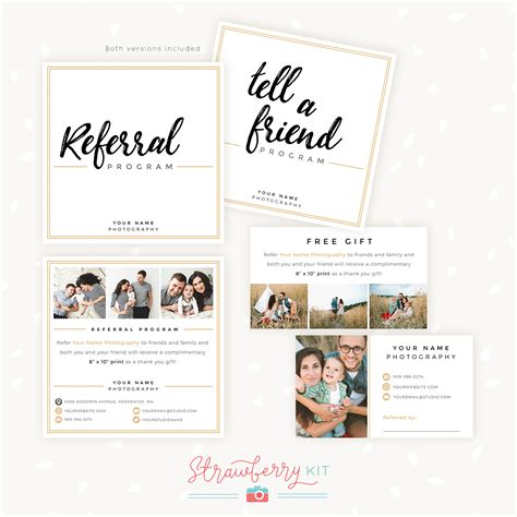 referral cards template referral gift certificate template choice image