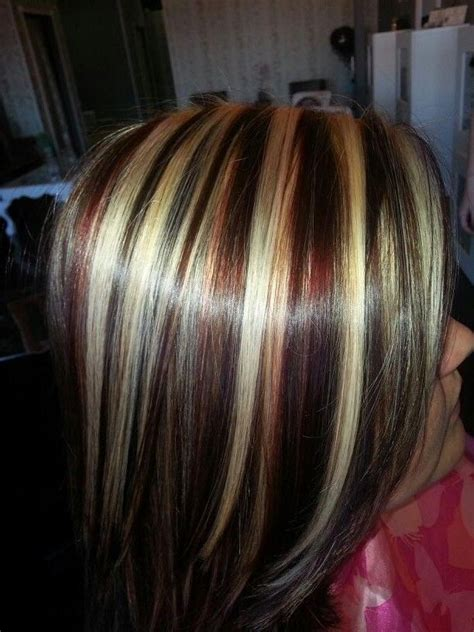 25 best ideas about medium hair highlights on pinterest 2018 popular short haircuts with red and blonde highlights