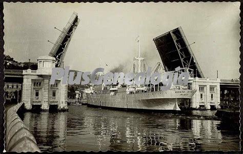 imagenes antiguas bilbao puente levadizo sobre el mar de bilbao fotos antiguas