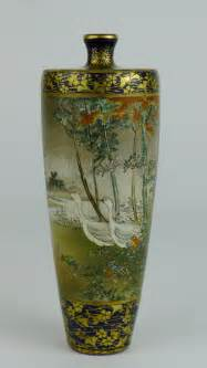 japanese satsuma vase antiques atlas 19th c japanese satsuma vase kinkozan