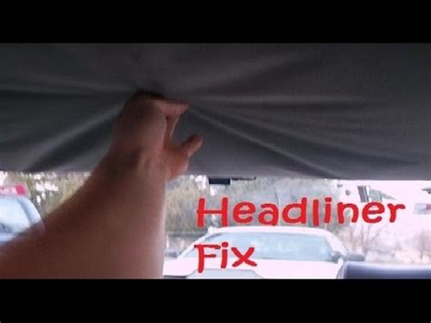 car ceiling upholstery repair how to fix car s headliner with carpet tape tips made