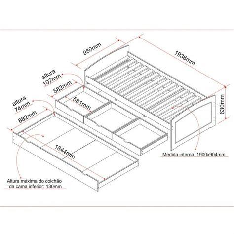 cama medidas medidas de cama de solteiro auxiliar e gavetas
