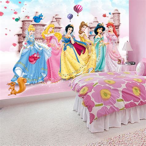 princess wallpaper for bedroom wallmural online disney princess wall mural