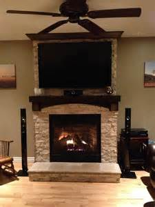 Ideas For Mounting Tv Fireplace by On Fireplace With Tv Mounted Mantle I Like The