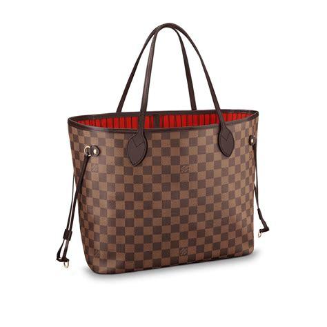Tas Wanita Cantik Fashion Louis Vuitton Lv Neverfull neverfull mm damier ebene canvas handbags louis vuitton