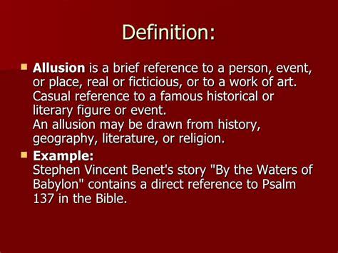 Allusion In Literature
