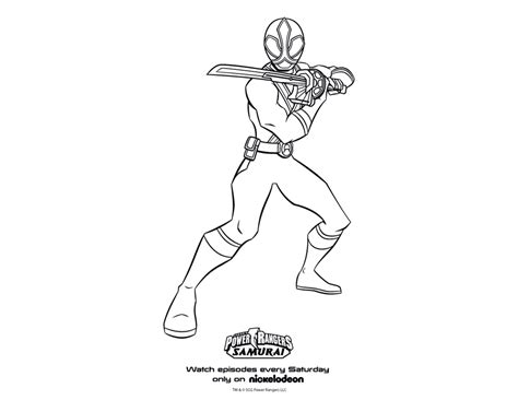 Power Rangers Samurai Coloring Pages Red | power ranger samurai coloring page preschool worksheets