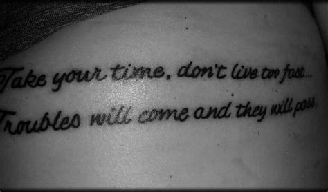 simple man tattoo cool simple lyric ideas