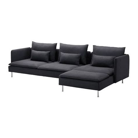 ikea soderhamn chaise s 214 derhamn sofa and chaise lounge samsta dark gray