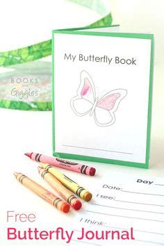 printable caterpillar observation journal free printable butterfly book including space to write