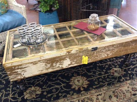 coffee table made from window black salvage architectural antiques custom