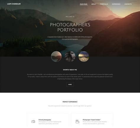 8 Best Photographer Website Themes Templates Design Trends Premium Psd Vector Downloads Best Photography Website Templates