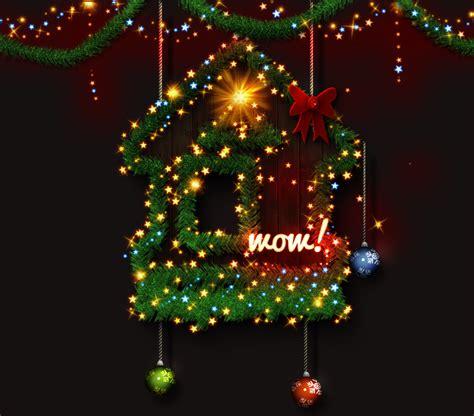 christmas tree photoshop creator by psddude graphicriver