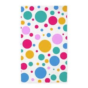 Polka Dot Kitchen Rug Colorful Polka Dots 3 X5 Area Rug By Creativejoy
