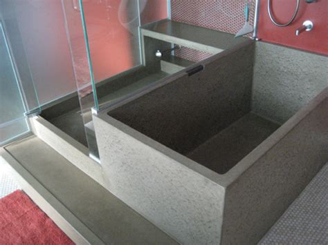 concrete bathtub concrete age artworks richard marks design