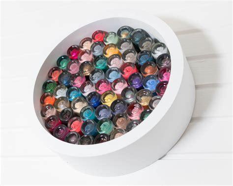 regal rund nagellack aufbewahrung mosaic look mit rundem regal