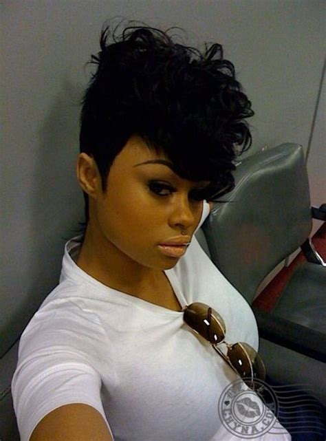 black chyna mohawk 27 piece curly hair howtoblackhair com