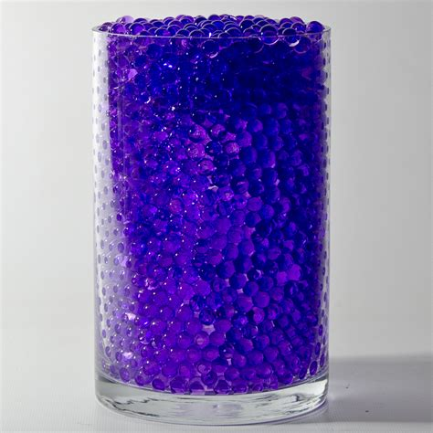 Purple Glass Vase Fillers purple water pearls deco jelly centerpiece wedding