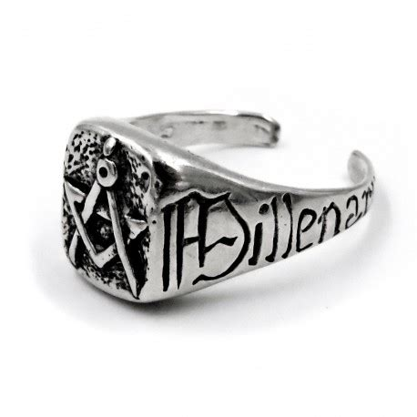 anello degli illuminati anello in argento 800 massonico illuminati