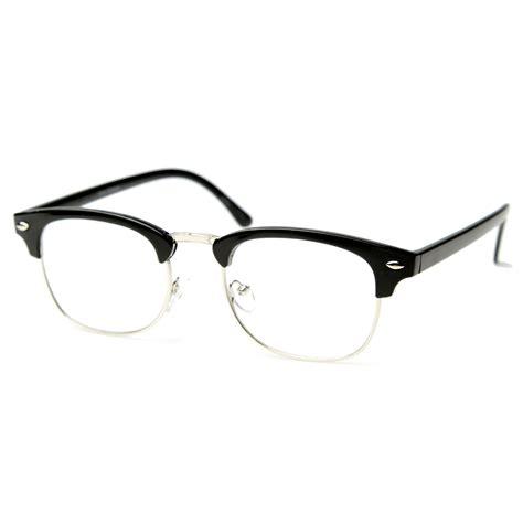 unworn original vintage half frame clubmasters shades